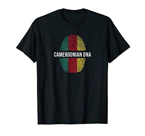T-shirt Flag Cameroon - Cameroonian DNA T-Shirt Cameroon Flag Tee