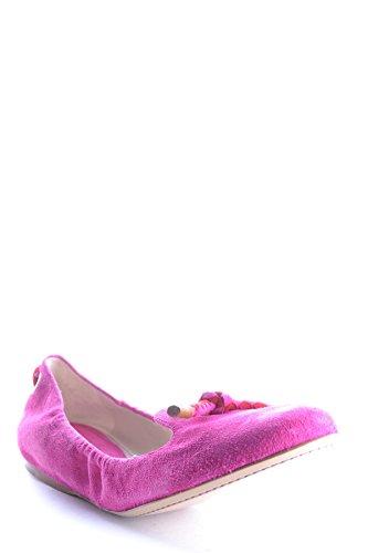 Fucsia Donna MCBI063016O Camoscio Ballerine Car Shoe 80qAwXZE6x