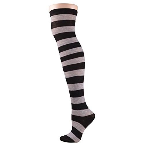 Chart Torrid Size Costume (Women Stripe Casual Elegant Over The Knee Thigh High Long Stocking Socks 01 Style)