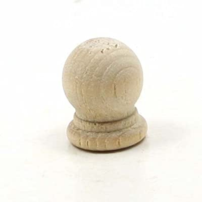 Mylittlewoodshop Pkg of 100 - Finial Dowel Cap - 3/4 inches tall with 1/4 inch hole unfinished wood (WW-DC8052-100)