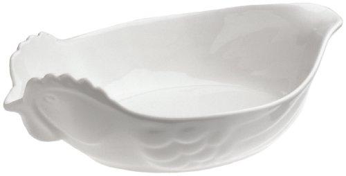 Revol Happy Cuisine White Porcelain 2 Quart Poultry Roasting Dish by Revol