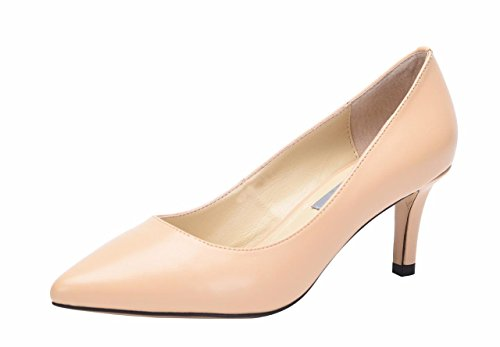 Pumps with Leather Heel