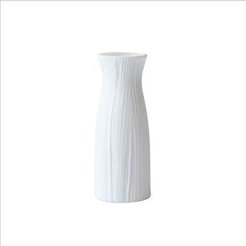123 Vasi di plastica di vita per il fiore, bianco durevole moderno vaso di fiori decorativo per salotto ufficio decorazione di nozze