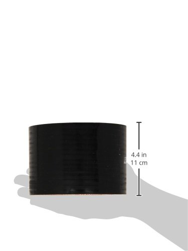 Black 3 Length 5 ID 65 PSI Maximum Pressure HPS HTSC-500-BLK Silicone High Temperature 4-Ply Reinforced Straight Coupler Hose
