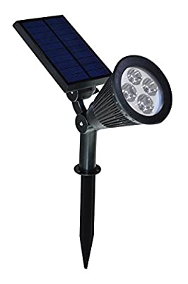 J-Creater 2-in-1 200Lumens Solar Powered LED Landscape Lighting Waterproof Outdoor Landscaping Lights Bulb Spotlight for Tree Flag Driveway Yard Lawn Pathway Garden - Pack of 4