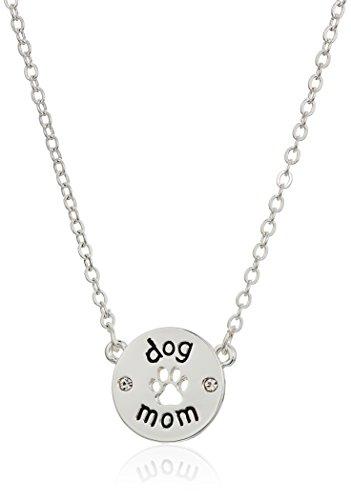 Pet Friends Silvertone/Crystal Dog Mom Pendant,