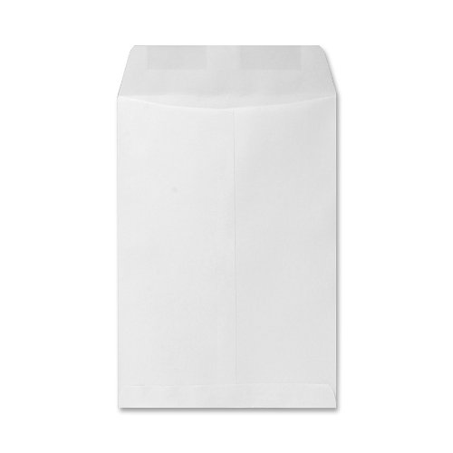 Catalog Envelope, Plain, 24lb, 6-1/2 x 9-1/2 Inches, 500/Box, White by Sparco