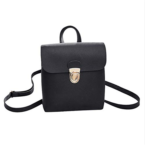 Meaeo Fashion Adolescenti Pelle Bag Ragazze School Youth Female Zaino Women Zaini In Black New Vintage Per Bagpack Nero 5rqw5