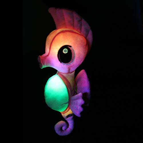 Athoinsu Glow Seahorse Light up Stuffed Animals LED Soft Plush Toys with Colorful Night Light Bedtime Companion Children's Day, Pink, 15 -