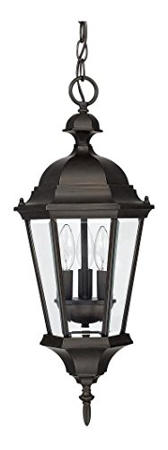 Old Bronze Carriage House 3 Light Outdoor Mini Pendant