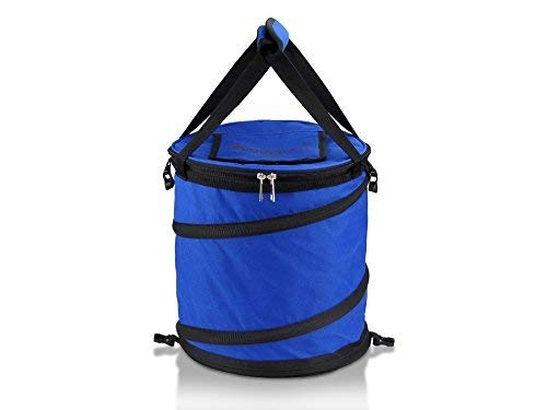 Blue 24 Can Pop Up Cooler - Lightweight, Insulated, Waterproof, Portable and Collapsible - For Travel, Picnics, Hiking, Camping and More - Jamboree by GigaTent -