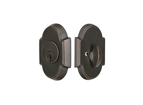 Emtek 8466#8 Deadbolt Single Cylinder- 9 finish options (Oil Rubbed Bronze US10B) (Rubbed Oil Brass Bronze Emtek)