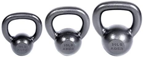 Ader Premier Kettlebell Set- 10, 15, 20 lb