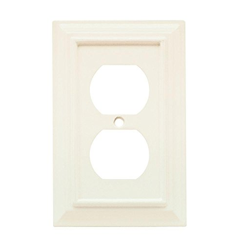 - Architectural Wood Decorative Single Duplex Outlet Cover, White