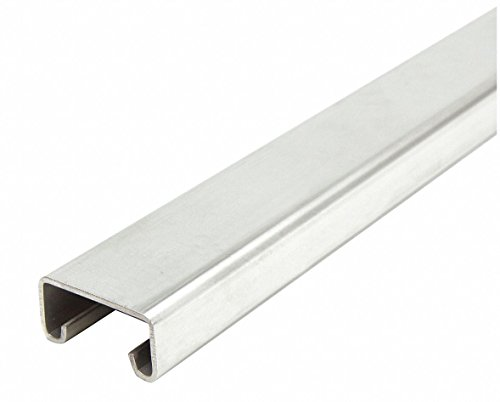 Solid Standard 1-5/8 x 13/16 Strut Channel, 304 Stainless Steel, 14 ga, 1 ft. 6'' by GRAINGER APPROVED