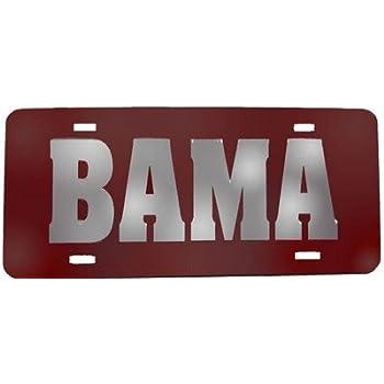 Amazon.com: Alabama Crimson Tide Red Silver Mirrored ...
