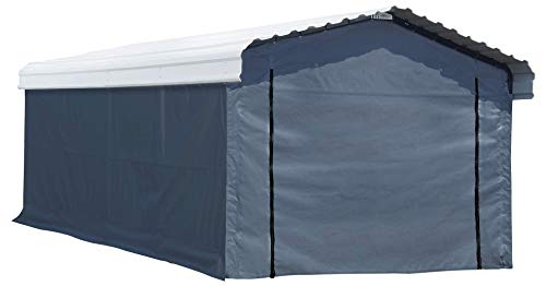 Arrow Fabric Enclosure Kit with UV Treated Cover for 12 x 20-Feet (Metal carport Not Included, fabric cover Only), 12' x 20'
