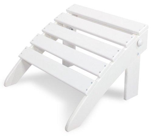 Ivy Terrace IVOT53WH Classics Folding Ottoman, White
