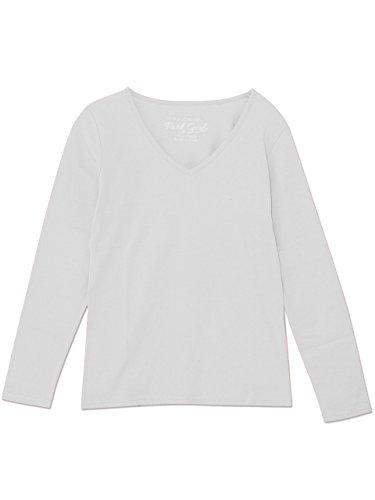 溶かすリサイクルする狂乱(パークガール) PARK GIRL コットン100%フライス素材無地Vネック長袖Tシャツ レディース 大きいサイズ S/M/L/LL/3L 5628300000