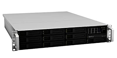 Synology RackStation USB 2.0 10-Bay (Diskless) 2U NAS Rackmount Network Attached Storage - RS2211RP+ (Silver/Black) from Synology America