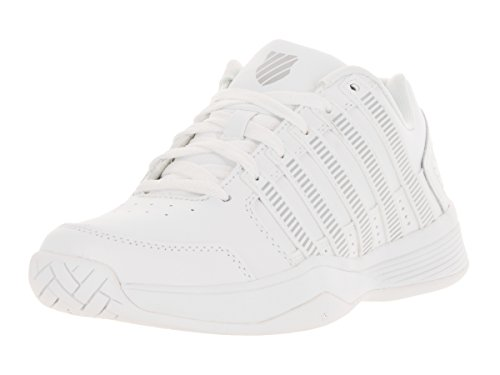 K-Swiss Women's Court Impact LTR White/Silver Tennis Shoe 6.5 Women US