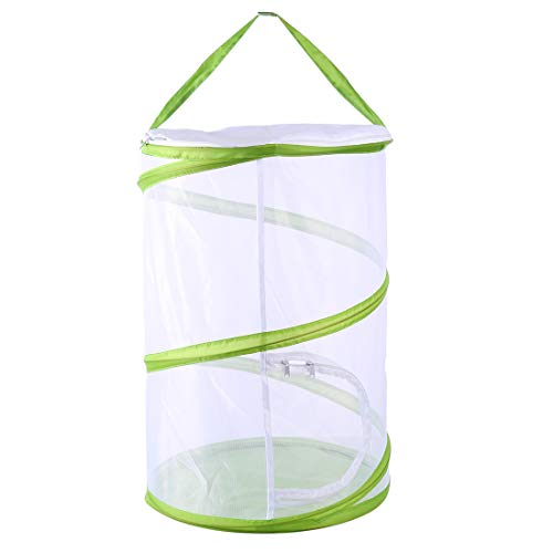 Yamix Large Mesh Butterfly and Insect Habitat Cage Butterfly Terrarium Butterfly House Pop-up 19.7 Inch