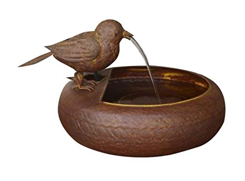 Folk Art Little Bird Fountain (Garden Art Fountain)