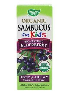 Sambucus Way organiques de la nature pour le sirop d'enfants, 4 once liquide