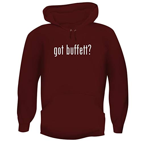 One Legging it Around got Buffett? - Men's Funny Soft Adult Hoodie Pullover, Maroon, Large for $<!--$33.79-->