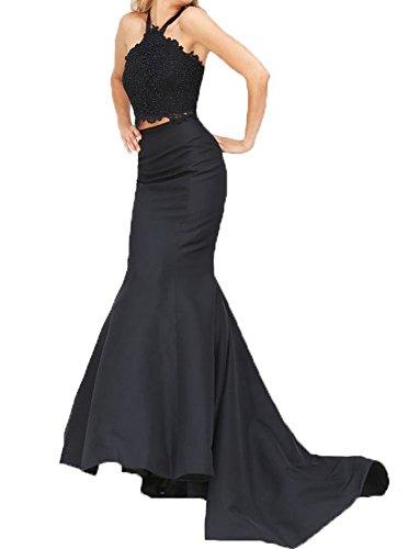 2 Piece Halter Evening Gown - 4