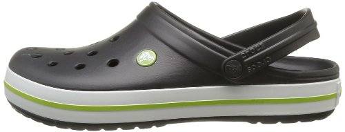 Crocs Crocband Clog, Zuecos con Correa, Unisex Negro (Onyx/Volt Green)