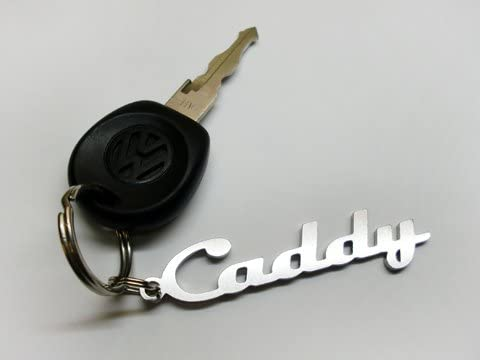 Caddy key fob stainless steel emblem