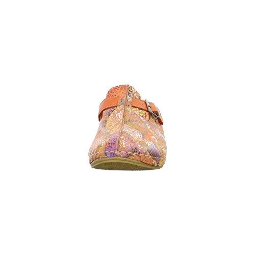 Andrea Conti 0021681-koralle/Kombi - Zuecos de Piel para mujer Multicolor