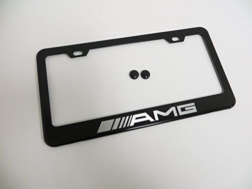 1-piece-amg-black-metal-license-plate-frame-mercedes-benz-with-screw-cap-covers