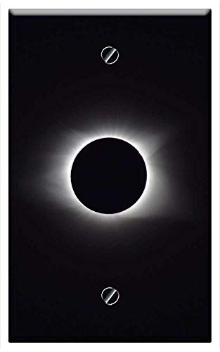 Single-Gang Blank Wall Plate Cover - Solar Eclipse 2017 Totality 2017 Tennessee Sun