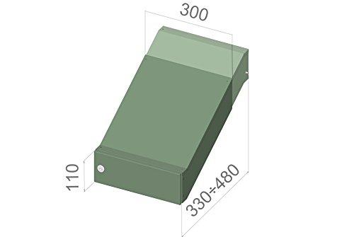 D de 042/Muro de acero inoxidable de lanzamiento Buz/ón Anlage Profundidad variable con nombre