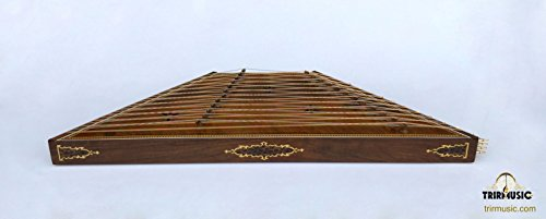 Persian Professional 12 Kharak Sadeghi Santoor, Santur, Dulcimer with Hard Case by SALA