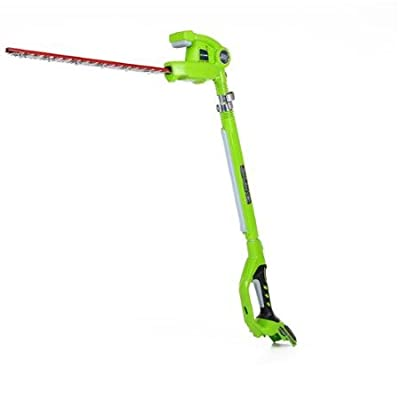 "GreenWorks G-24 20"" 24V Cordless Pole Hedge Trimmer, Tool Only"