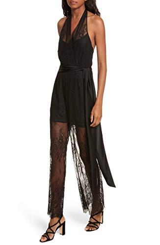 Diane von Furstenberg Halter Neck Lace Jumpsuit (4)