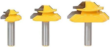 フィンガー ジョイント ルータービット 1/2 インチ 実用的 高品質 交換部品 3個セット