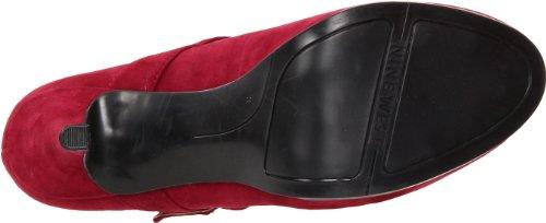Nine West Wild Ginger - Zapatos de vestir de cuero para mujer rojo Wine