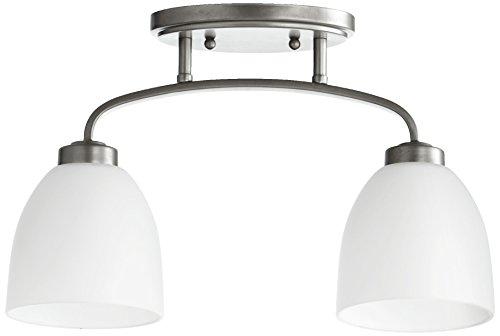 Quorum International 3260-2-64 Reyes 2 Light Sink Ceiling Mount, Classic Nickel by Quorum International