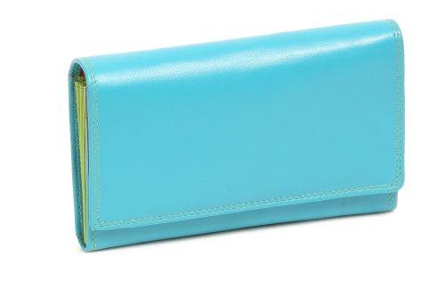 Damenlangbörse LEAS in Echt-Leder, bunt - LEAS Multicolore-Serie