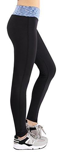 Nenoysweets Mujer Leggings Ejercicio Fitness Para Yoga Jogging Azul/Negro