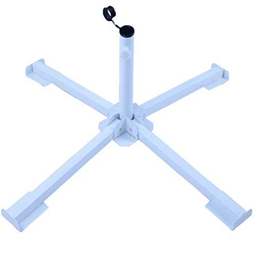 DDYOUTDOOR Foldable Tempered Iron Patio Sunshade Anchor Holder Umbrella Flagpole Stand Base White (Umbrella Patio Anchors)