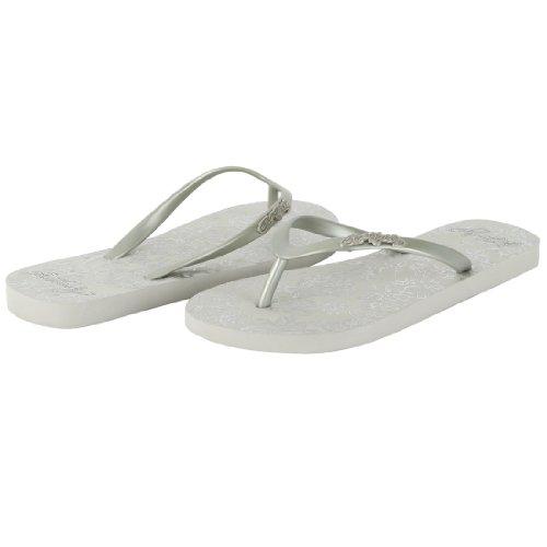 Ed Hardy Women's Capistrano Flip Flop Sandal - Silver - 7 ()