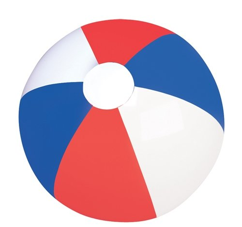 16'' PATRIOTIC BEACH BALL, Case of 144 by DollarItemDirect