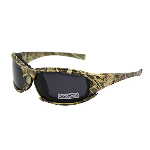 Polarized Daisy One X7 Army Sunglasses, Military Goggles 4 Lens Kit Tactical Goggles (Camouflage, 1 Lens Polarized (Out of 4))