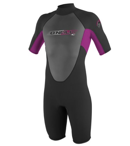 O'Neill Wetsuits Youth 2 mm Reactor Spring Suit, Black/Pi...
