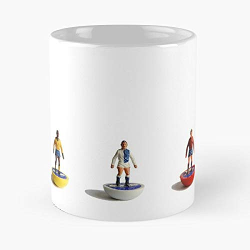 Subbuteo Style 1970s Heavy Weight Toys - 11 Oz Coffee Mugs Unique Ceramic Novelty Cup, The Best Gift For Holidays. -